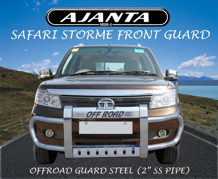 Tata-safari-storme-safty-guard-storme-steel-guard-ajanta-guard-manufacture.