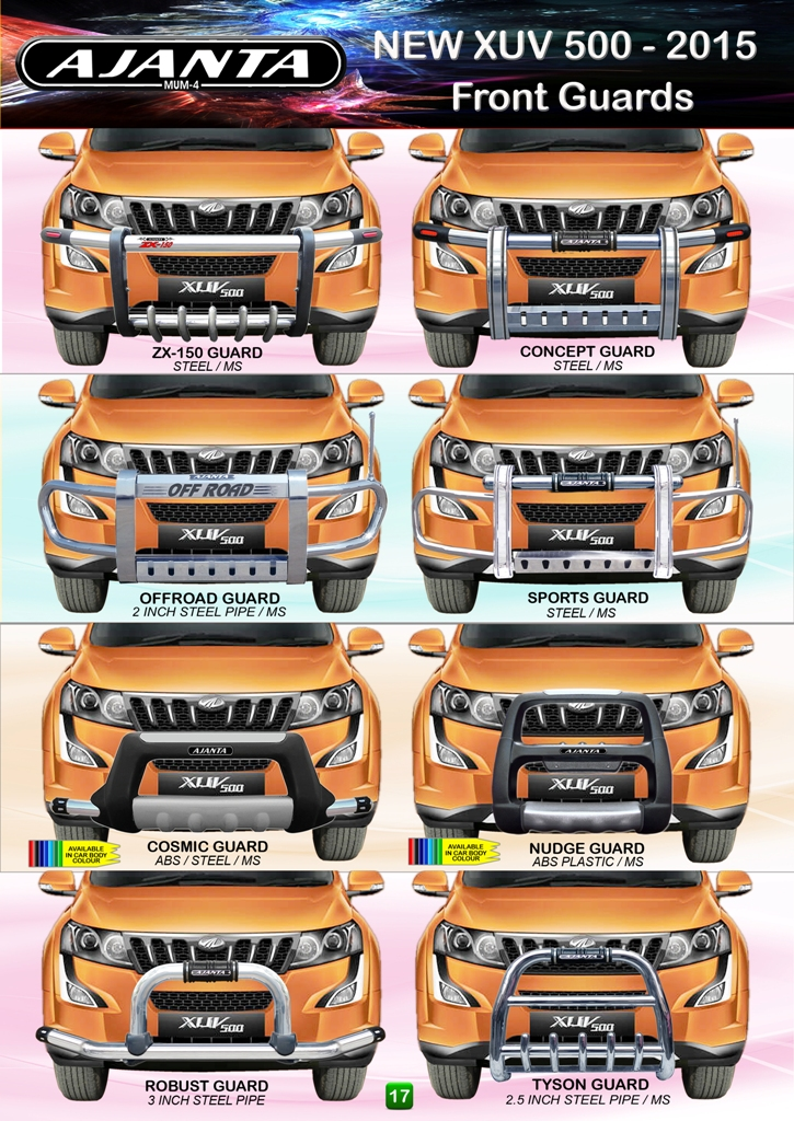 XUV-W 10-FRONT-BUMPER-GUARD-STEEL-SAFETY-FRONT-GUARD-STEEL-PU-GUARD-AJANTA.