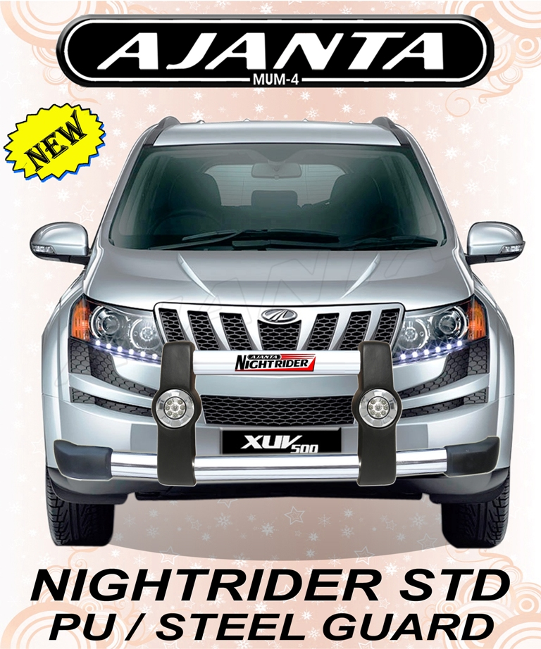 FRONT GUARD FOR XUV 500 FRONT GUARD WITH DRL LIGHT NIGHTRIDER STD GUARD-RAKESH..