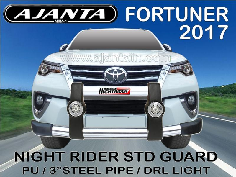 fortuner 2017 latest accessories-pu front guard-safety guard-ajanta guard india