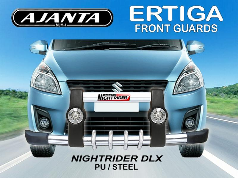 front-guard-maruti-ERTIGA-polyuerathane-drl-light-with-led-pu-front-guard-AJANTA