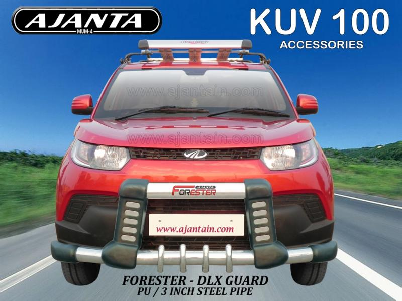 kuv-100-front-guard-pu-steel-Forester-front-guard.ajanta-accessories.MUMBAI