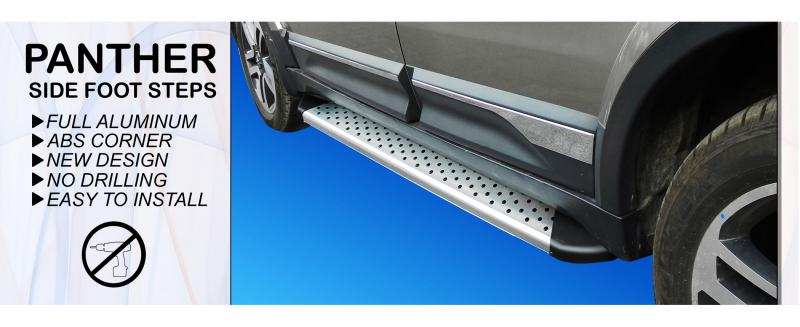 tata hexa panther side foot step aluminum foot step new design foot rest-ajanta.